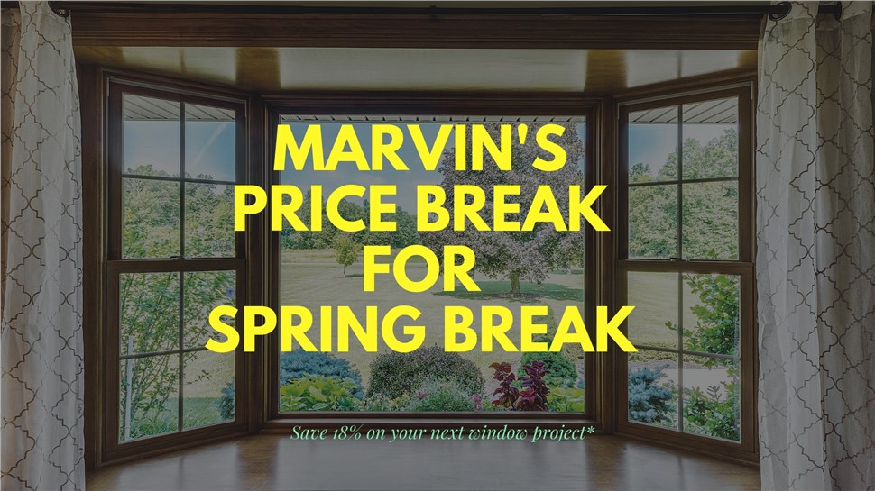 infinity by Marvin windows spring break sale