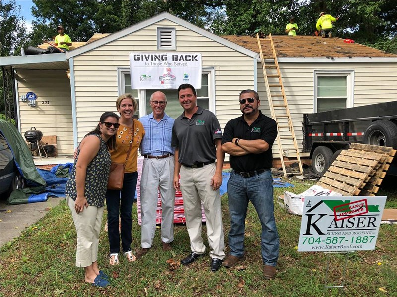 Kaiser Siding & Roofing Donates a Roof Install in Charlotte, NC for a Local Veteran