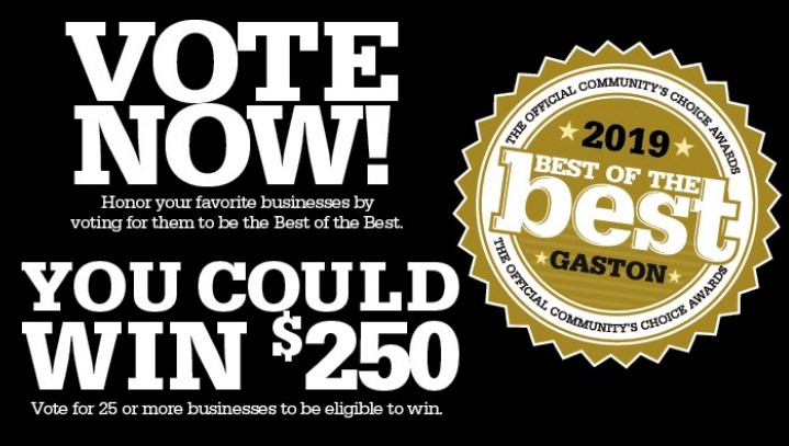 Kaiser Siding & Roofing Nominated for Best in Gaston County!