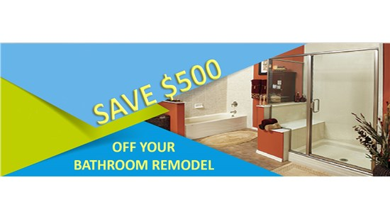 $500 Off Bathroom Remodel*