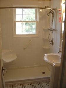 tub-to-shower conversion after