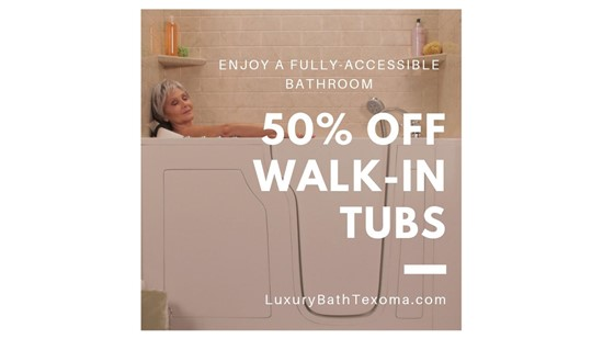 50percent off walk-in tubs