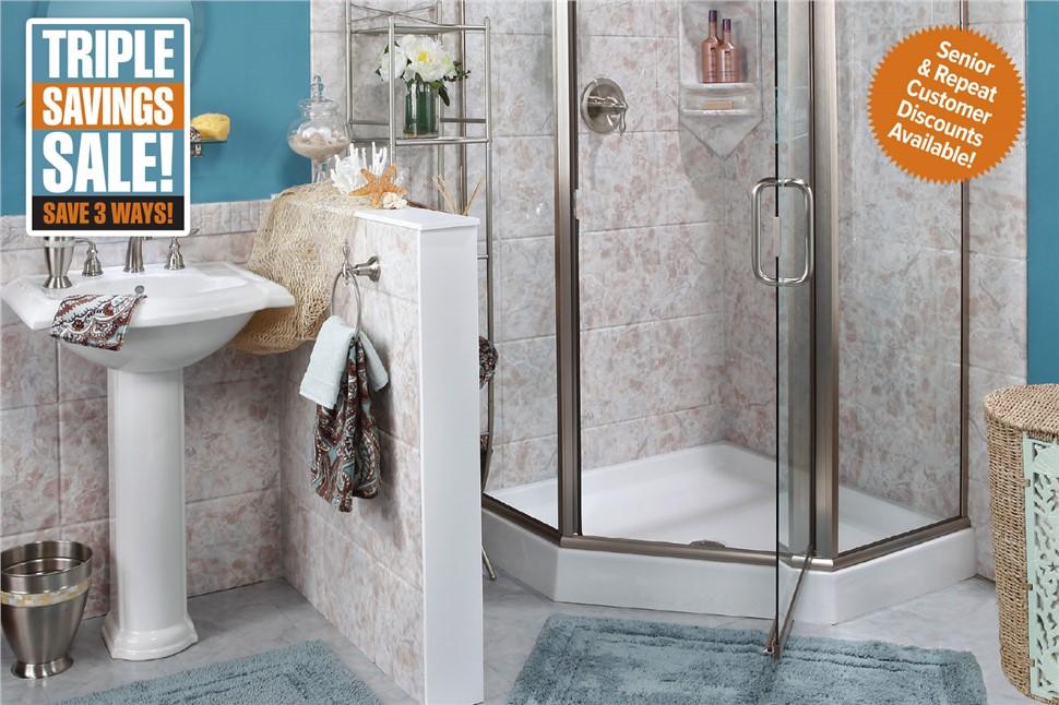 TRIPLE SAVINGS BATHROOM SALE!