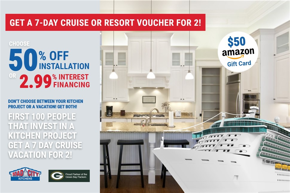 GET A 7-DAY CRUISE OR RESORT VACATION FOR 2!!