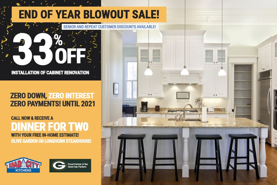 END OF YEAR BLOWOUT KITCHEN SALE!