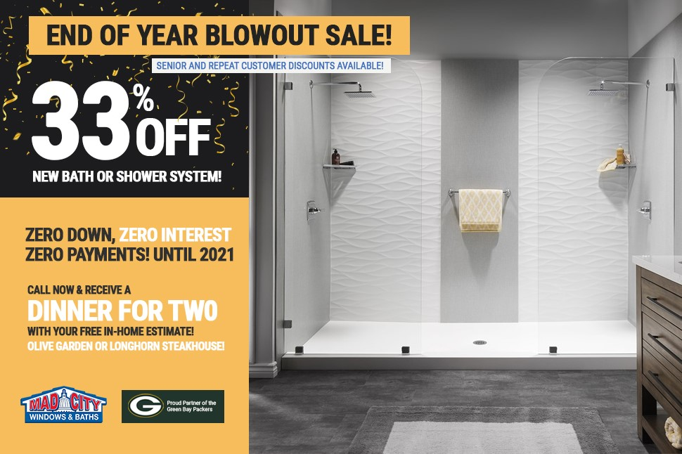 END OF YEAR BLOWOUT BATHROOM SALE!