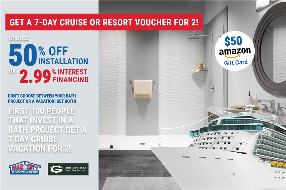 GET A 7-DAY CRUISE OR RESORT VACATION FOR 2!!!