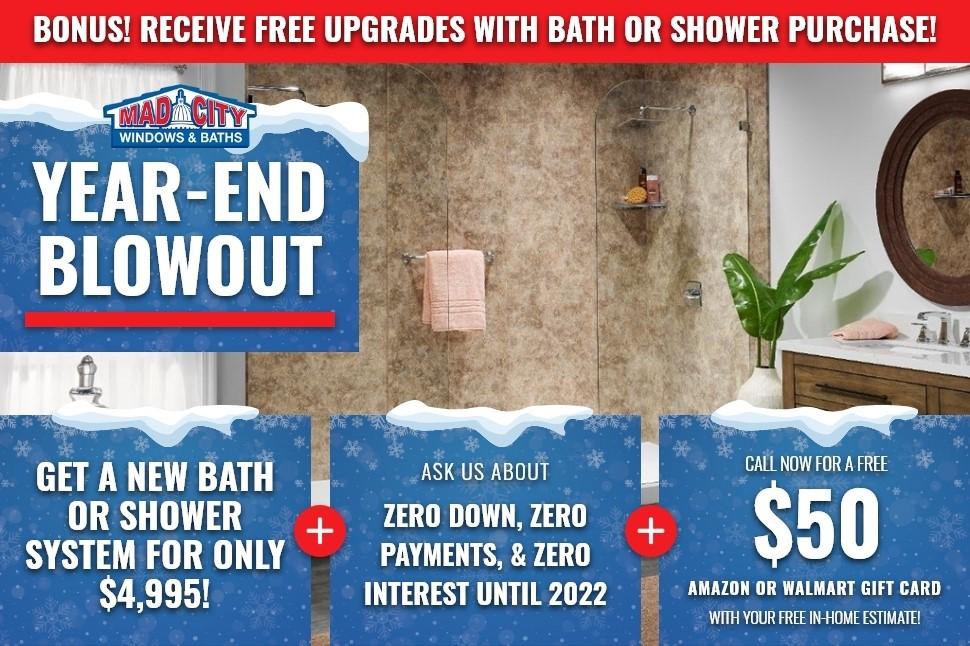 END OF YEAR BLOWOUT BATHROOM SALE