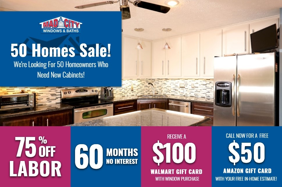 50 HOMES KITCHENS SALE!