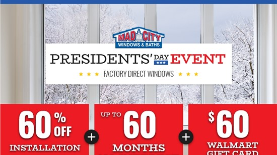 PRESIDENT'S DAY WINDOW EVENT