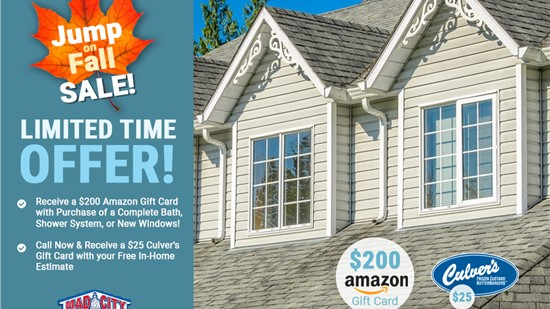 Receive a $200 Amazon Gift Card or $25 Culver's Gift Card!