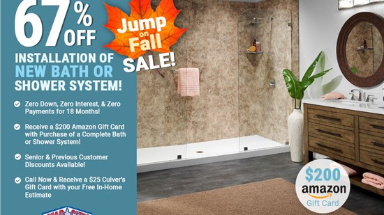 67% Off Installation Of A New Bath Or Shower System
