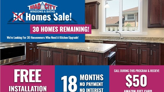 30 HOMES CABINETS SALE!