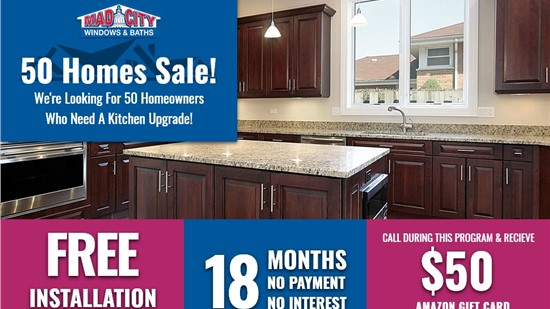 50 HOMES CABINETS SALE!