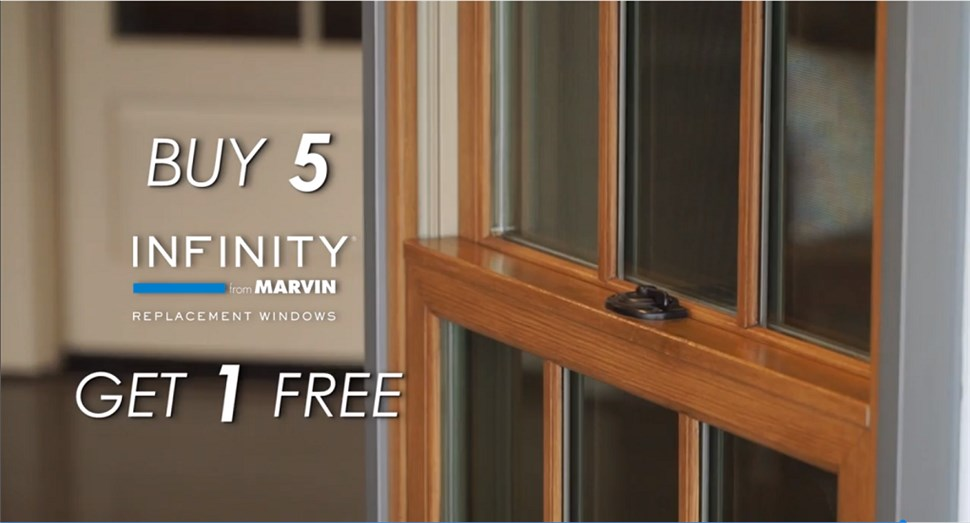 Buy 5 Marvin Infinity Windows - Get one FREE!