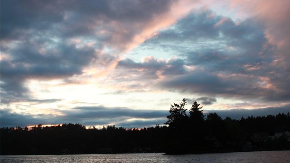 Lake Oswego Oregon sunset
