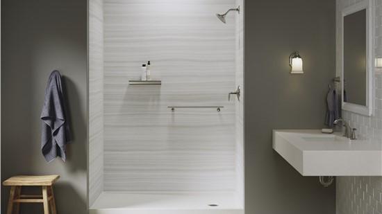 Save $1,000 on KOHLER Luxstone Walk-In Showers