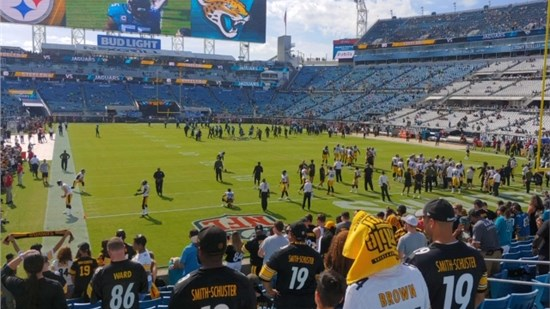 Jaguar vs Steelers Football Game