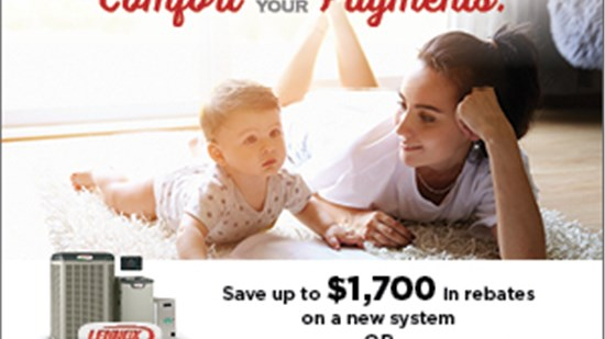 save up to 1700 on rebates on a new system