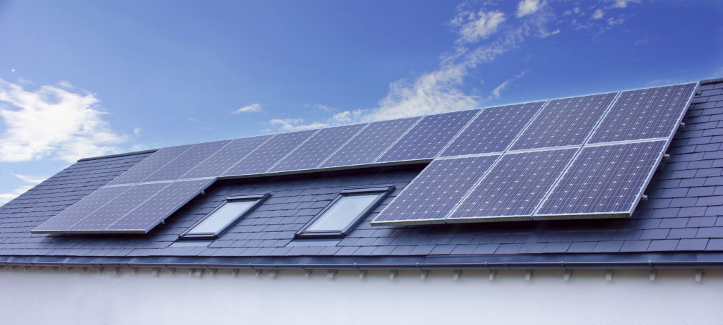 Solar panels on San Fran home