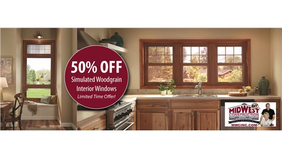 WHO Special:  Woodgrain Windows Offer