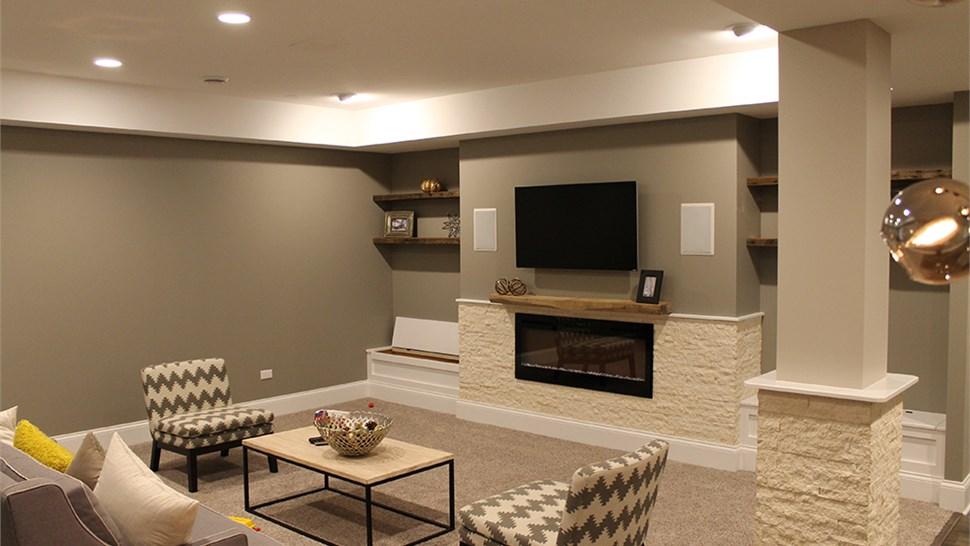Basement Family Room |Chicago Basement Finishing Company ...