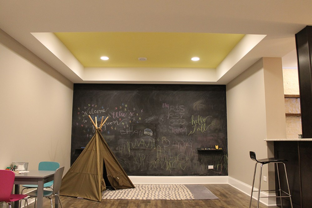 kids play area basement finishing projects matrix basement systems. Black Bedroom Furniture Sets. Home Design Ideas
