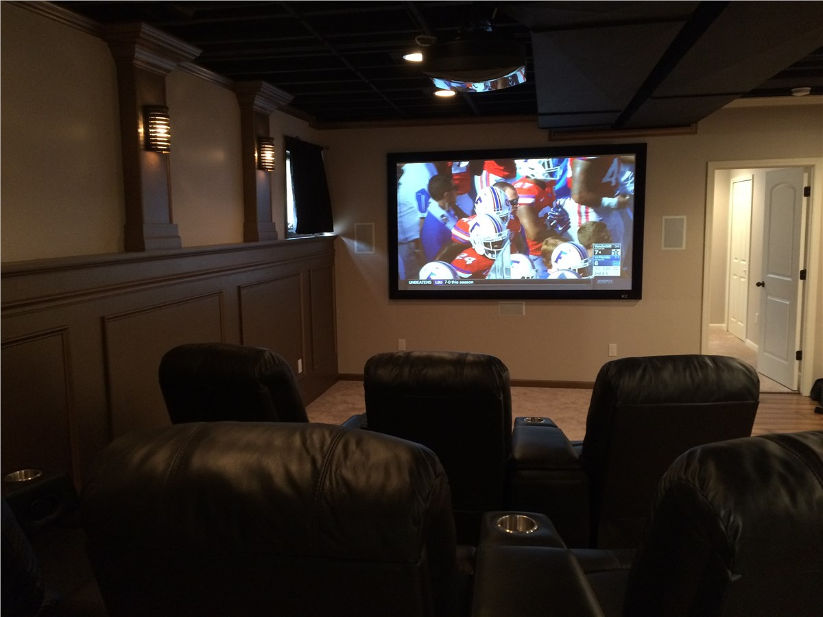 Michigan Basement Home Theaters
