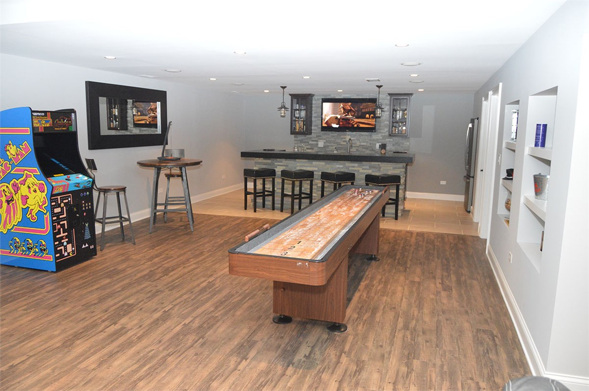 Basement finishing photo gallery basement remodel - Man cave ideas for basement ...