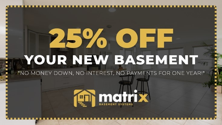 25% Off Your New Basement