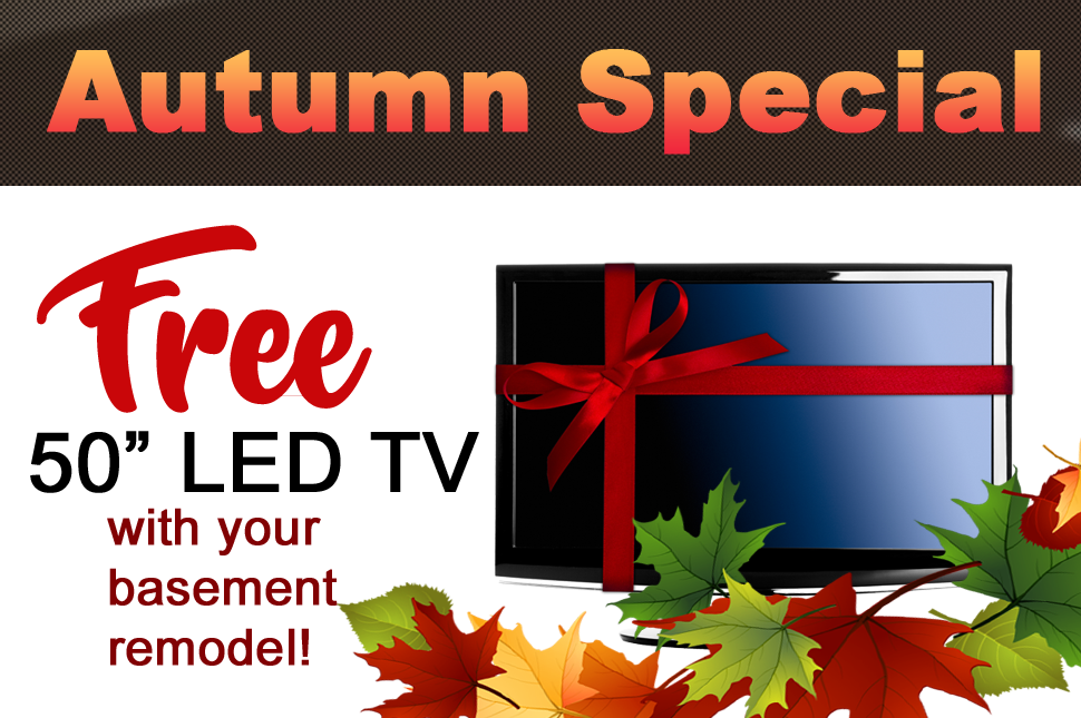 """Autumn Special - Free 50"""" LED TV!"""