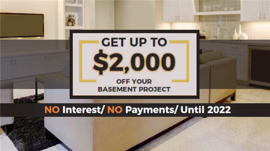 Get Up to $2,000 Off Your Basement Project!