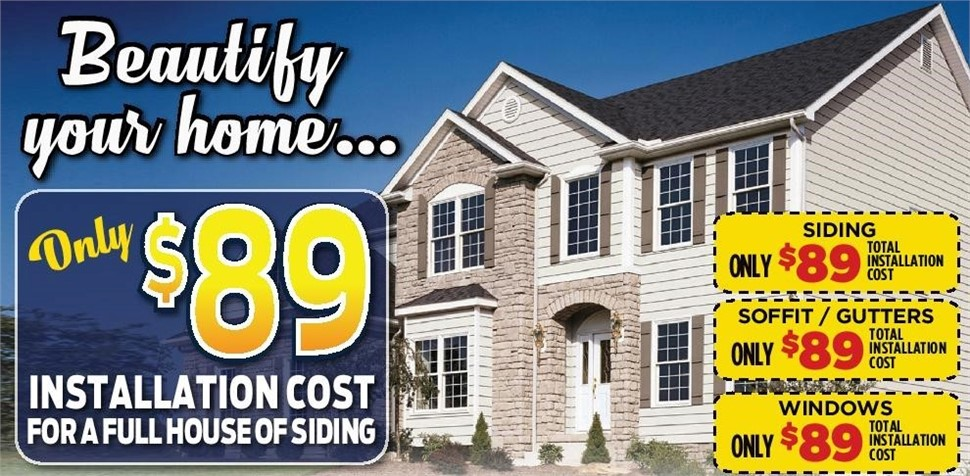 Siding Installation for Only $89!