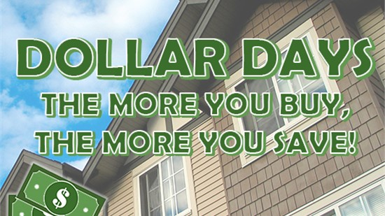 Dollar Days Sale: Buy 2 Windows and Get the 3rd for Just $1 – no limit!