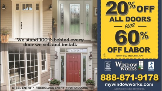 20% Off All Doors + 60% Off Labor!