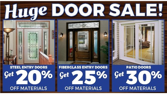 Get Up to 30% Off a New Door!
