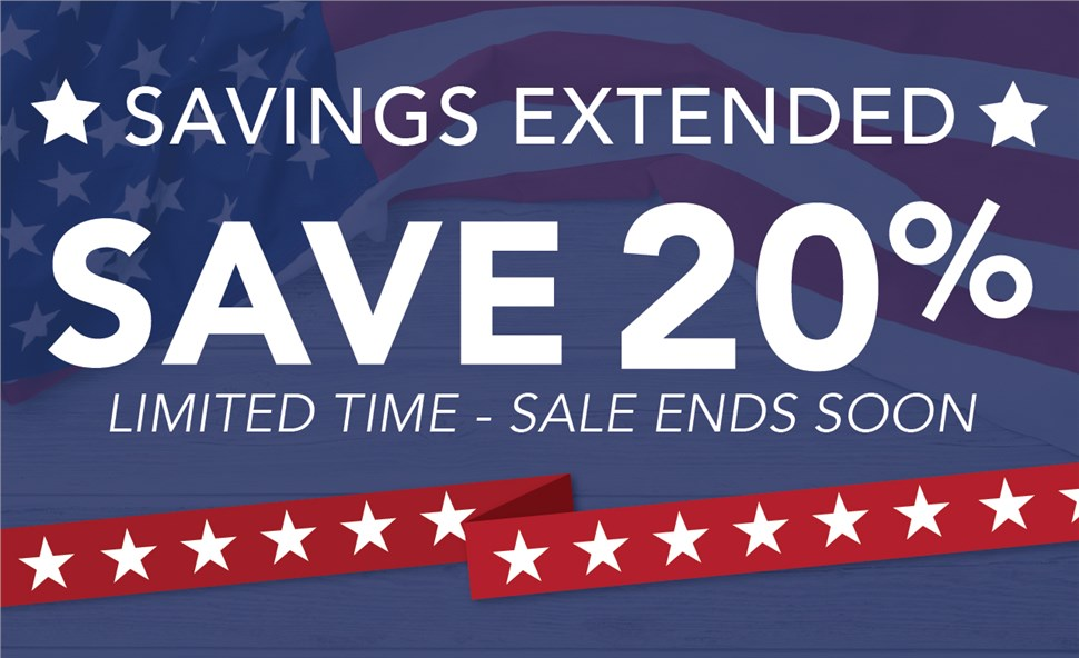 MEMORIAL DAY SAVINGS: Save 20% Off Your Project PLUS 0 Payments and Interest until 2019!