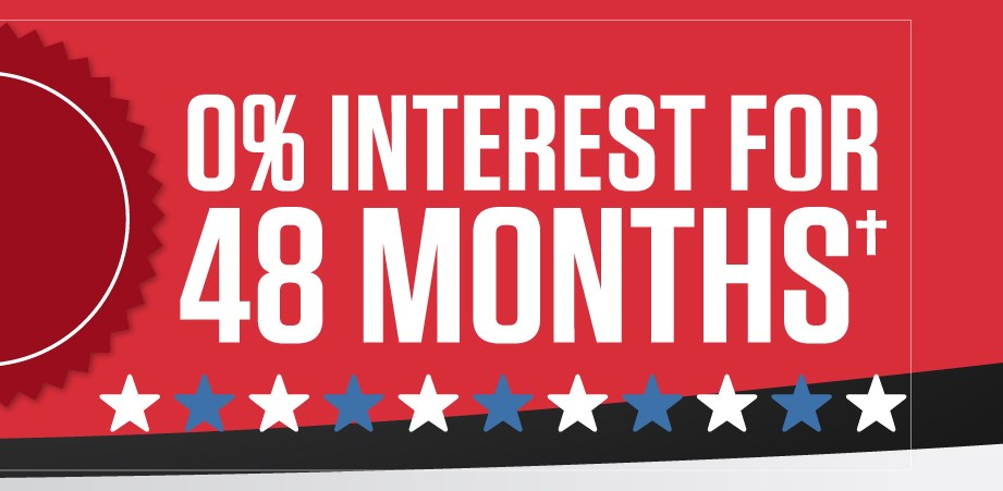Special 0% Financing For 48 Months†