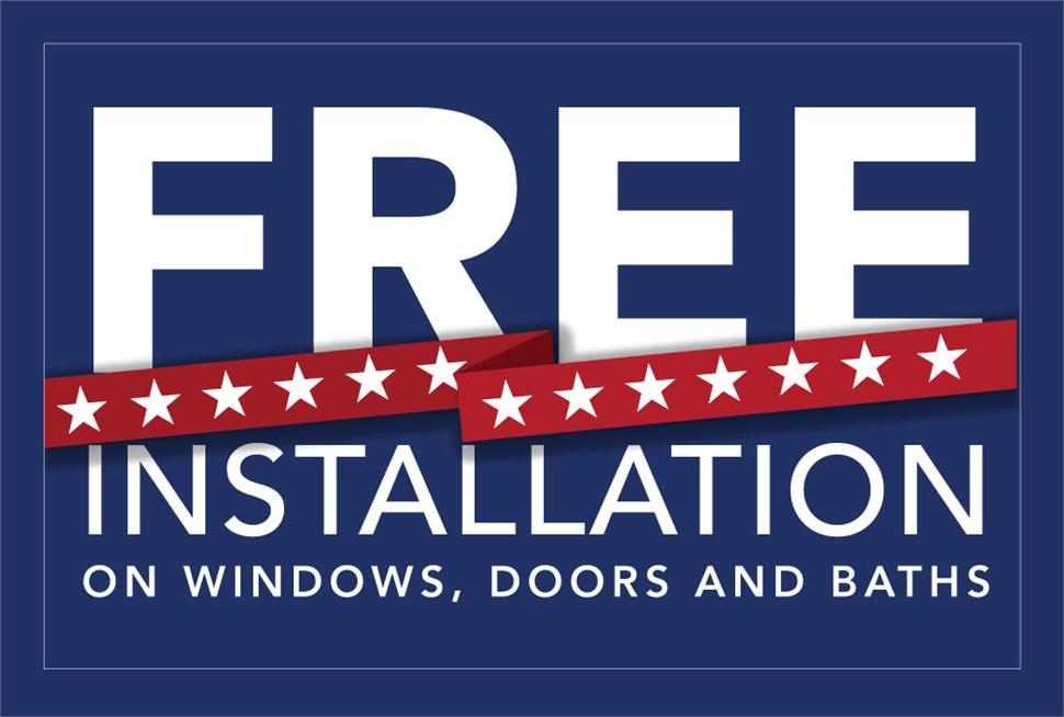 FREE INSTALLATION on Windows, Doors and Baths