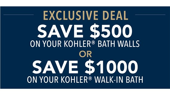 Save Up to $1,000 On Your Kohler Walk-In Bath