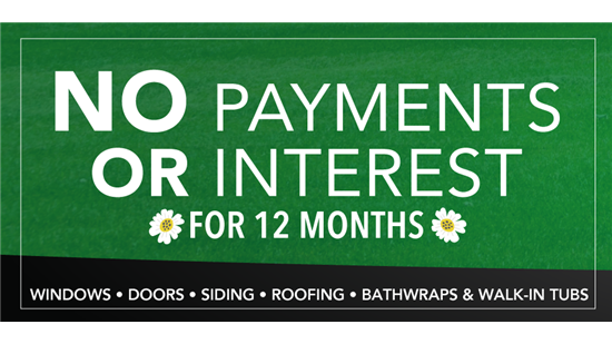 SPRING FOR SAVINGS: No Payments or Interest for 12 months!