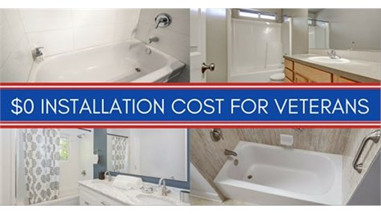 EXTENDED OFFER- FREE Tub and Shower Install for Veterans!