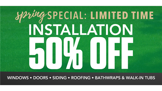 LIMITED TIME: 50% Off Installation