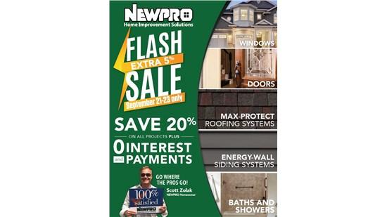 NEWPRO Home Improvement Savings Promotions Flash Sale August 2018