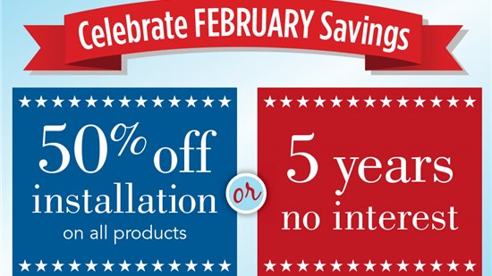 50% Off or 5 Yrs. Interest-Free