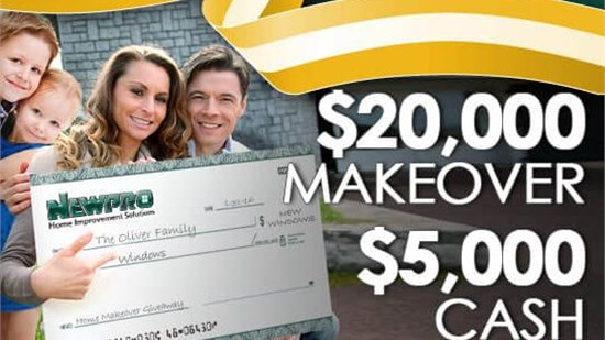 NEWPRO Mega Sweepstakes - Win a $20,000 Makeover and $5,000 Cash