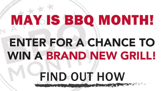 ENTER FOR A CHANCE TO WIN A FREE GRILL!