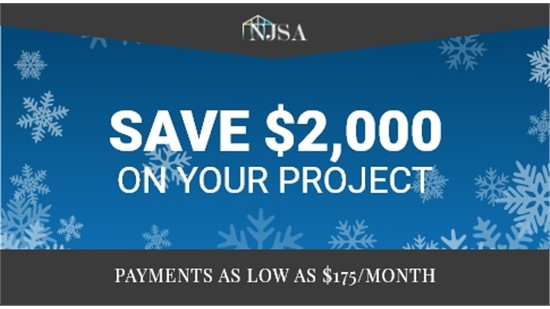 Save $2,000 On Your Project - Payments As Low As $175/Month