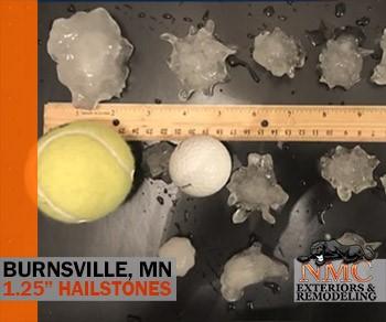Golf Ball Hail Causes Damage in Burnsville Thursday Morning