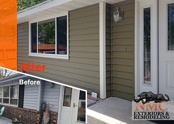 NMC replaced siding, soffits, fascia and gutters in Brooklyn Park